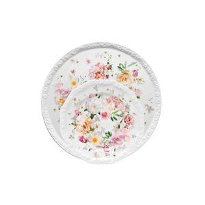 Serviciu de tort din portelan pentru 6 persoane Maria Pink Rose Rosenthal Classic