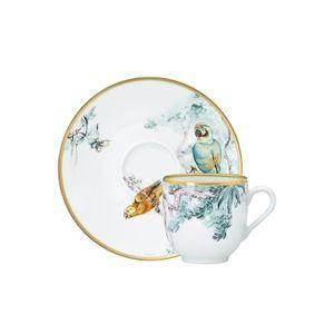 Set 2 cescute cafea din portelan Carnets d'Equateur Hermès