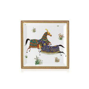 Platou patrat no 4 portelan Cheval d'Orient Hermès