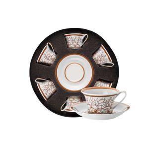 Set 6 cescute ceai din portelan Les Etoiles de la Mer Rosenthal Versace