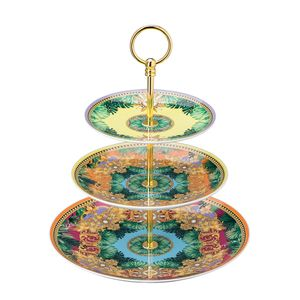 Etajera pentru prajituri din portelan Jungle Animalier Rosenthal Versace
