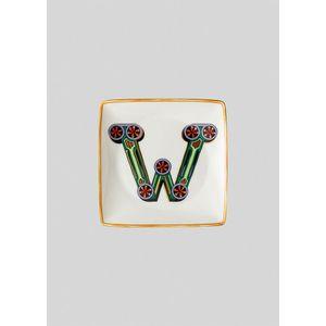 Mini platou W 12 cm Holiday Alphabet Versace