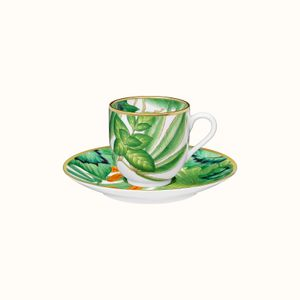 Set 2 cescute cafea din portelan Passifolia Hermès