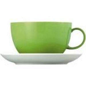 Set 6 cescute cappuccino din portelan Sunny Day Apple Green Rosenthal Thomas
