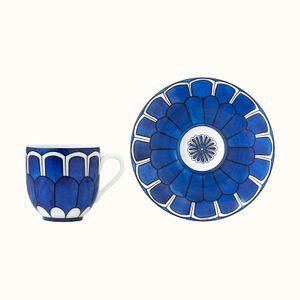 Set 2 cesti cafea cu farfurioare Bleus d'Ailleurs Hermes